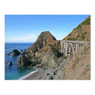 Route 1 de côte - grand pont de crique carte postale
