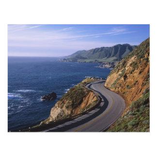 Route 1 le long de la côte de la Californie près Carte Postale