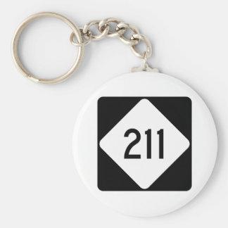 Route 211 de la Caroline du Nord Porte-clé Rond