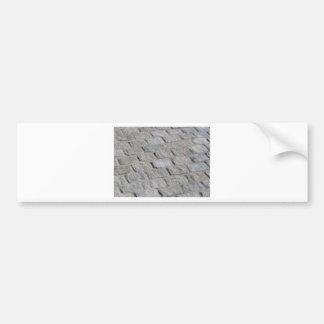 route blanche de brique autocollant de voiture