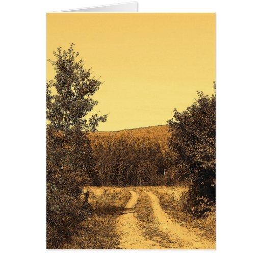 Route de campagne cartes de vœux