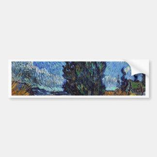 Route de campagne de Vincent van Gogh en Provence Autocollant Pour Voiture