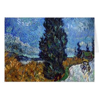 Route de campagne de Vincent van Gogh en Provence Carte De Vœux