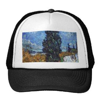 Route de campagne de Vincent van Gogh en Provence Casquettes De Camionneur
