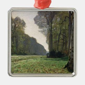 Route de Claude Monet | à Bas-Breau, Fontainebleau Ornement Carré Argenté