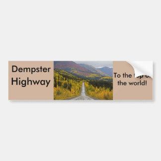 Route de Dempster jusqu'au dessus du monde Autocollant De Voiture