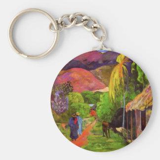Route de Gauguin dans le porte - clé du Tahiti Porte-clés
