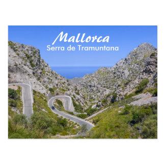 Route de Majorque Serra de Tramuntana Mountain Carte Postale