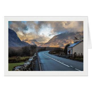 Route de montagne au Pays de Galles Carte De Vœux