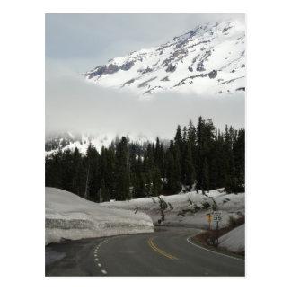 Route de montagne carte postale