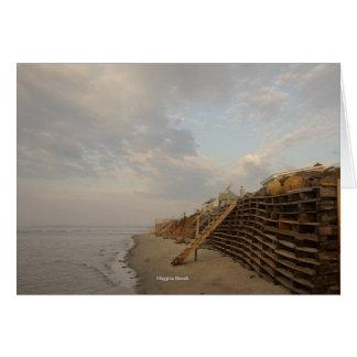Route de naufrage de marée haute de plage de cartes de vœux