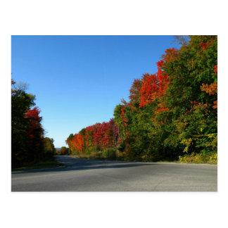 Route d'octobre carte postale