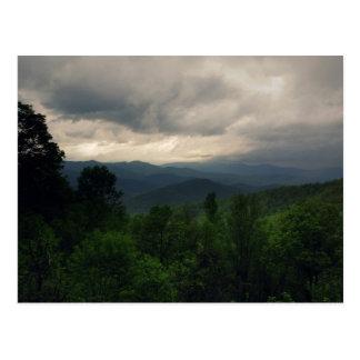 Route express bleue de Ridge, carte postale de la