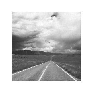 Route orageuse toiles