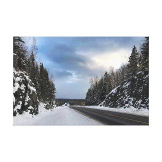 Route ouverte du Michigan en hiver sur la toile