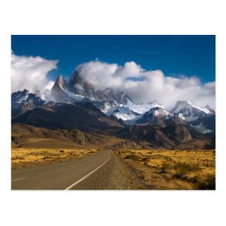 Route pour monter Fitzroy, Patagonia Carte Postale