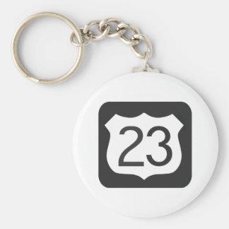 Route US-23 Porte-clé Rond