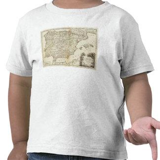 Routes postales de l Espagne et du Portugal T-shirt