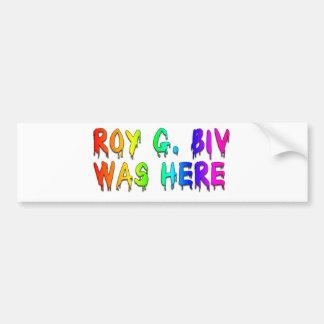 Roy G. Biv Graffiti Autocollants Pour Voiture