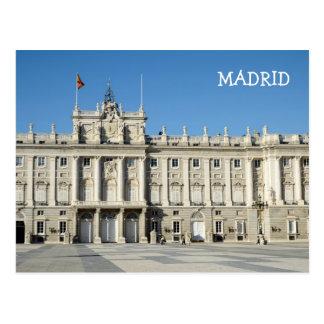 Royal Palace, carte postale de Madrid