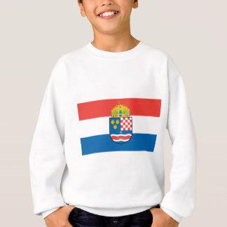 Royaume de la Dalmatie Croatie et de drapeau de la Sweatshirt