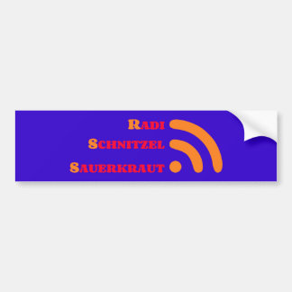 RSS radis lambeau choucroute Autocollant Pour Voiture