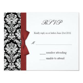 RSVP - Carte de réponse de mariage d'arc de Carton D'invitation 10,79 Cm X 13,97 Cm