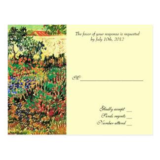 RSVP, carte de réponse, Van Gogh