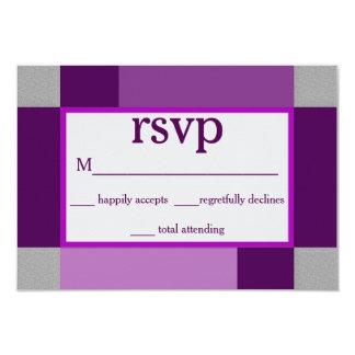 RSVP - COLLECTION ABSTRAITE DE POURPRE CARTON D'INVITATION 8,89 CM X 12,70 CM