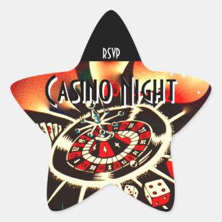 Rsvp d'étoile de partie de nuit de casino sticker étoile