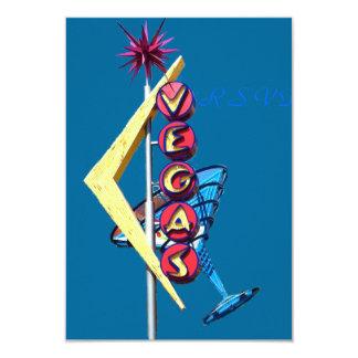 RSVP Las Vegas au néon vintage Carton D'invitation 8,89 Cm X 12,70 Cm