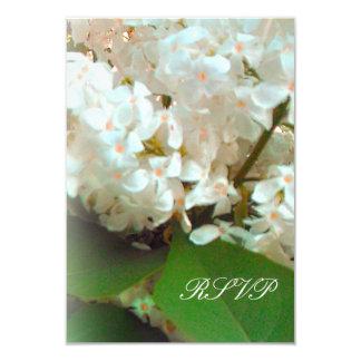 RSVP - Lilas blancs Carton D'invitation 8,89 Cm X 12,70 Cm