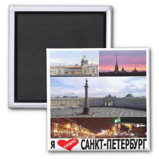 RU - La Russie - ST PETERSBOURG - AMOUR d'I - Magnet Carré
