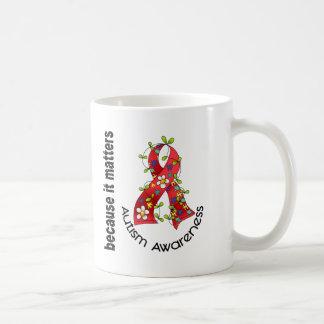 Ruban 3 de fleur d'autisme tasse à café