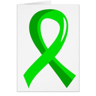 Ruban 3 de vert de chaux de lymphome non carte de vœux