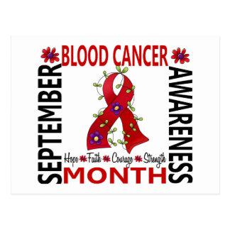 Ruban 4 de fleur de mois de conscience de Cancer Carte Postale