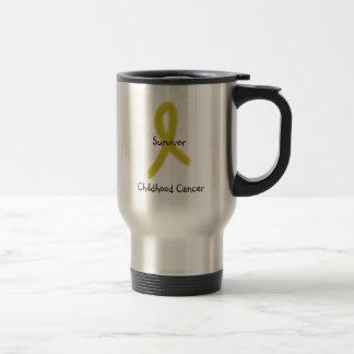 RUBAN 9-4-09, survivant, Cancer d'OR d'enfance Mug De Voyage