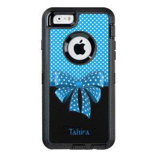 Ruban bleu et pois coque OtterBox iPhone 6/6s