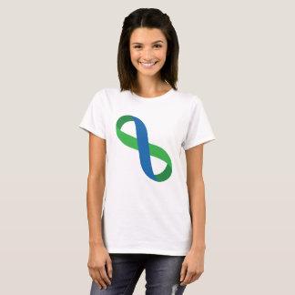 Ruban bleu et vert d'infini t-shirt