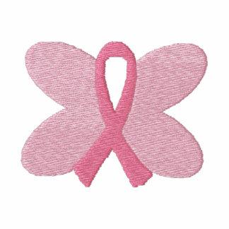 Ruban brodé de papillon de cancer du sein