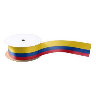 Ruban colombien de drapeau ruban en satin