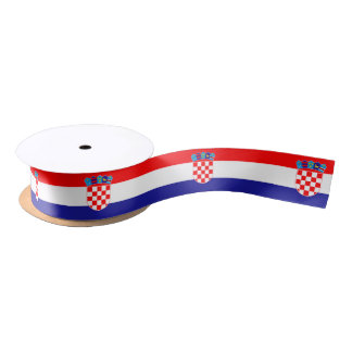 Ruban croate de drapeau ruban en satin