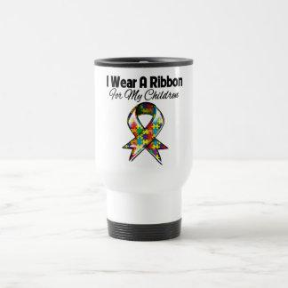 Ruban d'autisme pour mes enfants tasse à café