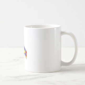 Ruban d'autisme mug blanc