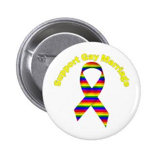 Ruban de conscience d'arc-en-ciel de mariage homos badge rond 5 cm