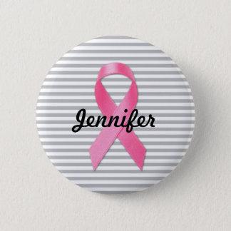 Ruban de conscience de cancer du sein personnalisé badges