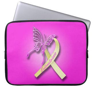 Ruban de conscience d'endométriose housse ordinateur portable
