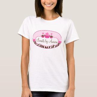 Ruban de Polkadot de zèbre de bruits de petit T-shirt