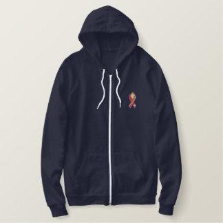Ruban de sapeur-pompier sweatshirt à capuche brodé