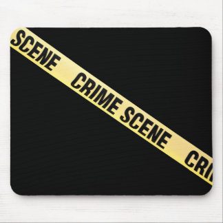 Ruban de scène du crime coupé. Arrière - plan Tapis De Souris